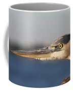 Observant Eye - Heron Portrait Coffee Mug