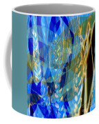Ocean Girl With Golden Wheats Coffee Mug by Navo Art