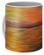 Ocean Sunrise- Oil Painting- Abstract Art Coffee Mug