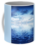 Ocean With Calm Waves Background With Dramatic Sky Coffee Mug