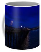 Oceanside Pier Night Image Coffee Mug