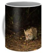 Ocelot Crouching At Night Looking For Food Coffee Mug