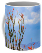 Ocotillo Cactus With Mountains And Sky Coffee Mug
