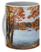October Morn At Walden Pond Coffee Mug by Jack Skinner
