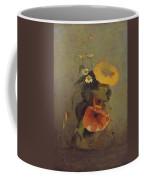 Odilon Redon - Vase With Poppy, Camomile And Bindweed Coffee Mug