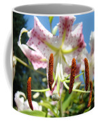 Office Art Prints Pink White Lily Flowers Botanical Giclee Baslee Troutman Coffee Mug