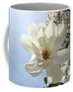 Office Art Prints White Magnolia Flower 66 Blue Sky Giclee Prints Baslee Troutman Coffee Mug