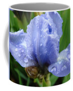 Office Art Wet Blue Iris Flower Floral Giclee Baslee Troutman Coffee Mug