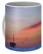Offshore Oil And Gas Rig In The Pacific Coffee Mug by James Forte