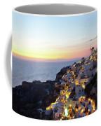 Oia Village In Santorini Island - Greece Coffee Mug