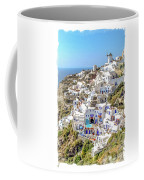 Oia Watercolor Coffee Mug