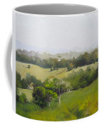 Oil Painting From Mt Cooroy Sunshine Coast Queensland Australia Coffee Mug