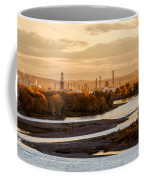 Oil Refinery At Sunset Coffee Mug