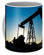 Oil Rig Silhouette Coffee Mug