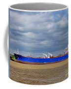 Oil Tanker Ship At Dock Coffee Mug