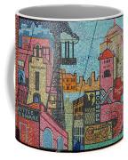 Oklahoma City Bricktown Mosaic Wall Coffee Mug
