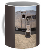 Old 1930 Silver Camping Trailer Coffee Mug by Edward Fielding