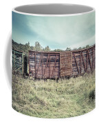 Old Abandoned Box Cars Central Vermont Coffee Mug