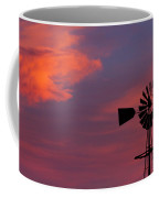 Old American Farm Windmill With A Sunset  Coffee Mug