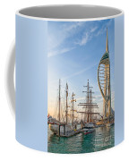 Old And New At Gunwharf Quays Coffee Mug