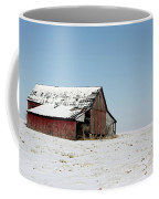 Old Barn And Snowy Prairie Coffee Mug