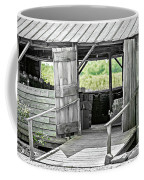 Old Barn At The Farm On Sunny Day Coffee Mug