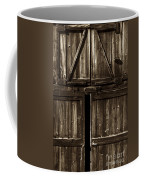 Old Barn Door - Toned Coffee Mug