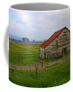 Old Barn In The Mustard Fields Coffee Mug