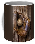 Old Baseball Mitt And Ball Coffee Mug