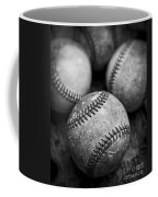 Old Baseballs In Black And White Coffee Mug by Edward Fielding