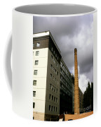 Old Brick Chimney Amongst Modern Office Buildings Near The Railway Station Perugia Umbria Italy Coffee Mug