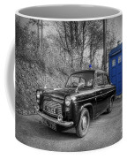 Old British Police Car And Tardis Coffee Mug
