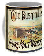 Old Bushmills Irish Whiskey. Old Advertising Poster Coffee Mug