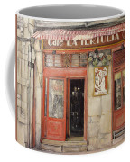 Old Cafe- Santander Spain Coffee Mug by Tomas Castano