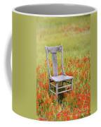 Old Chair In Wildflowers Coffee Mug