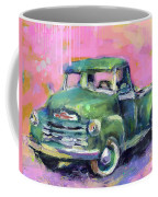 Old Chevy Chevrolet Pickup Truck On A Street Coffee Mug