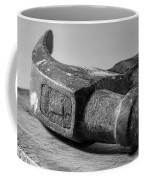 Old Claw Hammer With Wooden Handle Bw Coffee Mug