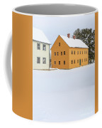 Old Colonial Wood Framed Houses In Winter Coffee Mug