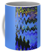 Old Columbia River Water Front Abstract Coffee Mug