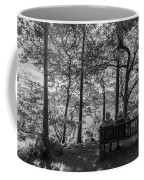 Old Couple On The Bench By The Lake Coffee Mug