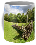Old Cut Tree On A Meadow Coffee Mug