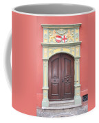 Old Door And Emblem Coffee Mug
