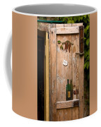 Old Door And Wine Coffee Mug