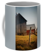 Old Fence With A Red Barn Coffee Mug