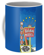 Old Fifties Vegas Hotel Sign Painting Coffee Mug
