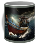 Old Fishing Boat In A Storm  L A Coffee Mug