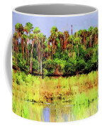 Old Florida Loop Palms Coffee Mug