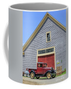 Old Ford Model A Pickup In Front Barn Coffee Mug