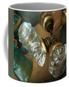 Old Glass Coffee Mug by Delight Worthyn