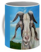 Old Goat - Painting By Cindy Chinn Coffee Mug